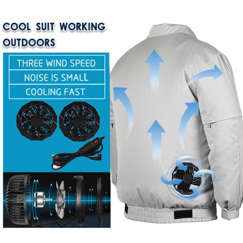 Summer Cooling Fan Air Conditioning Heatstroke Outdoor Working Reflective Coat