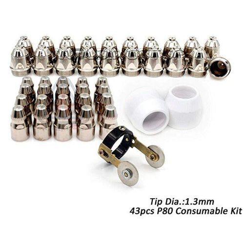 P80 Plasma Cutter Accessories Electrode Tip Nozzle Cup 86pcs