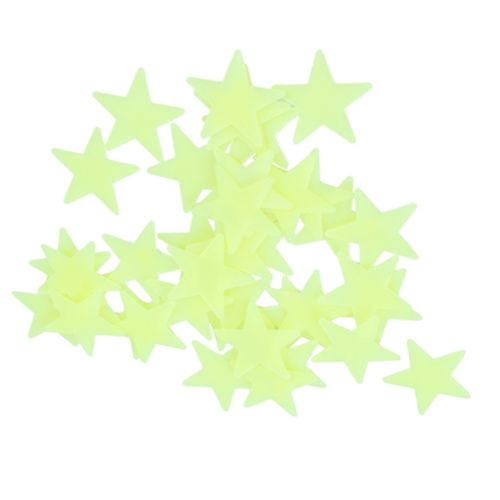 Glow In The Dark 3D Stars Wall Stickers 100Pcs Luminous