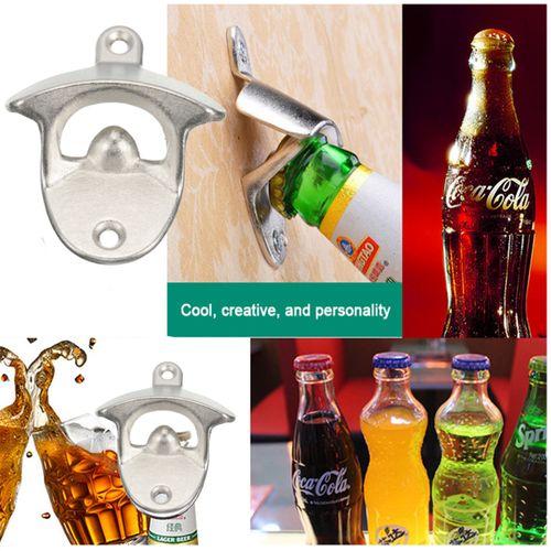 Wall Mount Metal Wine Beer Soda Cap Bottle Open Opener Tool Kitchen Bars