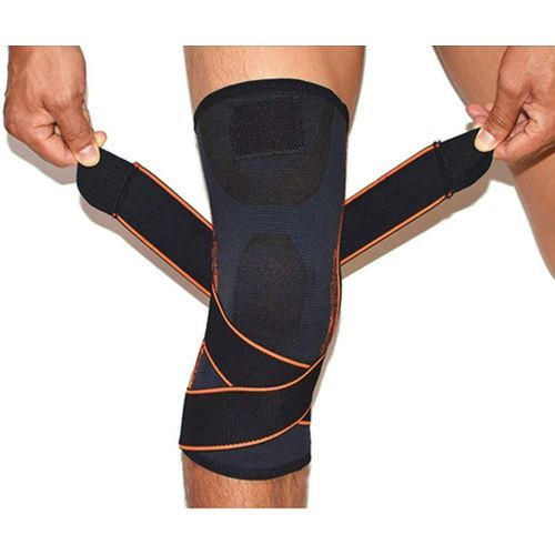 Knee Brace, Athletic Compression Sleeve With Pressure Strap And Knee Protector