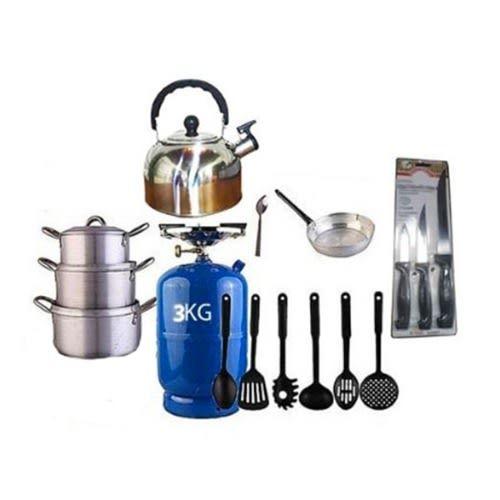 The Renew Economy Kitchen Bundle(3kg Gas Cylinder & Kitchen Utensils)