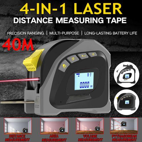 4 In 1 40M Laser Rangefinder Digital Tape Measure Distance Meter 5M Portable