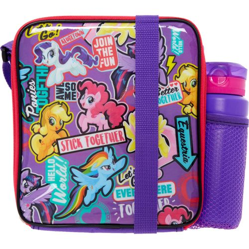 My Little Pony Sticker Character Lunch Bag & Bottle
