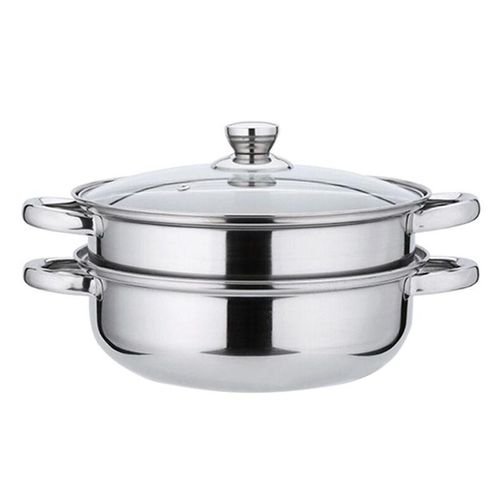 Stainless Steel 2 Tier 28cm Steamer Induction Steam Steaming Pot Cookware Set