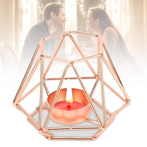 Nordic Style Small Tealight Geometric Candle Holders Candlestick For Home Tabletop Art Household Decor