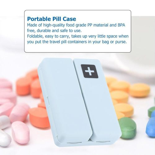 Portable Medicine Case Foldable Pill Box Organizer With 7 Compartments