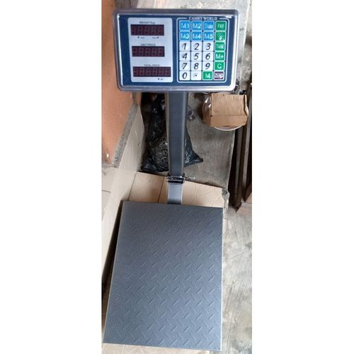 DIGITAL PLATFORM SCALE WITH CHECKERED PLATE-100KG
