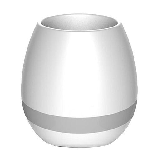 K3 Smart Music Flower Pots Fashion Lights Multi-color Speaker White