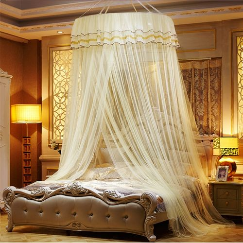 Large Diameter 1M Dome Lace Mosquito Net Princess Round Ceiling Mosquito Nets