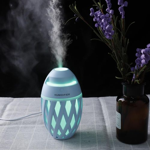 Olive-shaped USB Air Purifier Breathing LED Lights Dual-level Protection Cool Mist Humidifier