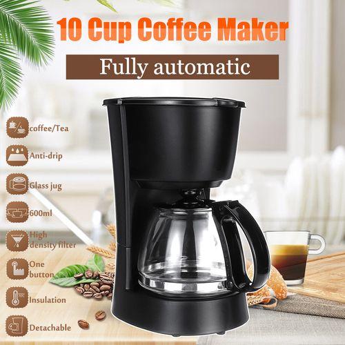 Coffee 10 Cups Maker Electric Espresso Drip Filter Automatic Machine Home