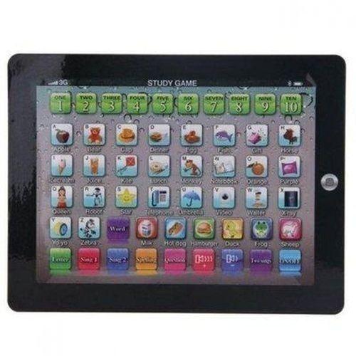 Kids Educational Learning Toy Ipad - Black