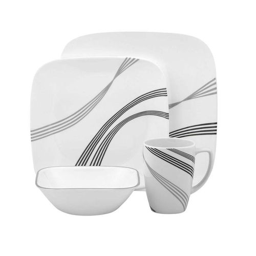 Corelle Square Urban Arc 16-Piece Dinnerware Set
