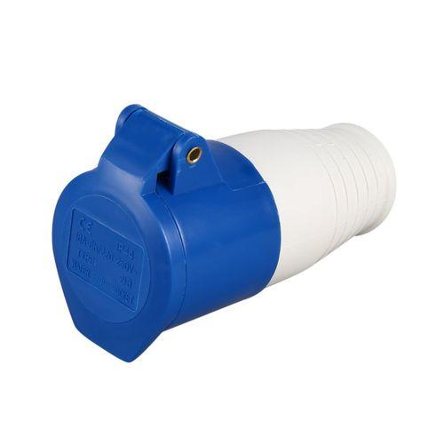Blue 240V 16 Amp 3 PIN Industrial Plug & Wall Socket Waterproof IP44 2P+Earth