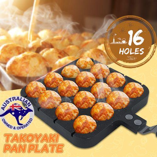 16 Holes Takoyaki Grill Pan Plate