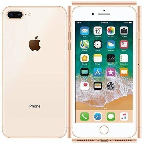 IPhone 8 Plus 5.5-Inch HD (3GB,64GB ROM) IOS 11, 12MP + 7MP 4G Smartphone Gold, And Free Pouch And Tempered Glass