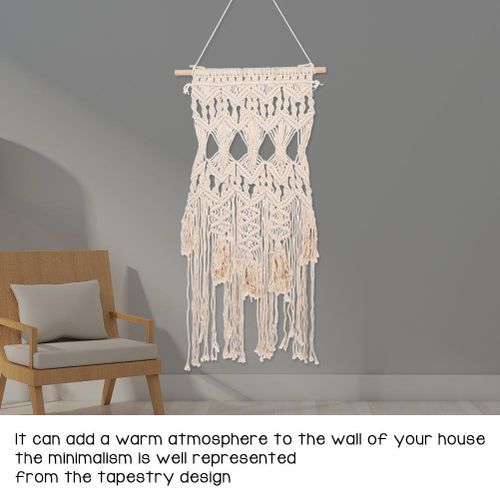 Bohemian Macrame Hollow Out Woven Art Wall Hanging Tassel Tapestry Living Room Home Decor