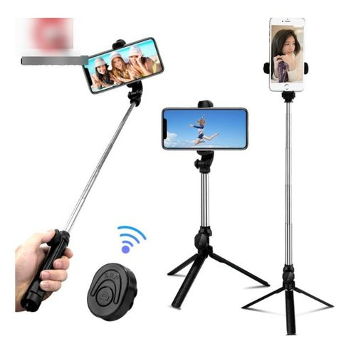 2018 New Bluetooth Remote Controller Hand-held Selfie Stick Tripod. Perfect For Pictures, Video Recording. Compatible With Android & IOS Phones + IRing Phone Holder.Feel & Capture Every Moment With This Amazing Selfie Stick.