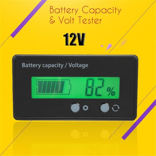 12V LCD Acid Lead Lithium Battery Capacity Indicator Voltage Tester Voltmeter