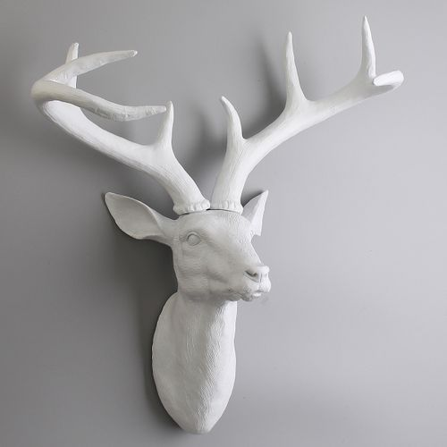 3D Antlers Deer Animal Head Stag Wall Mounted Art Wall Hanging Decor UK