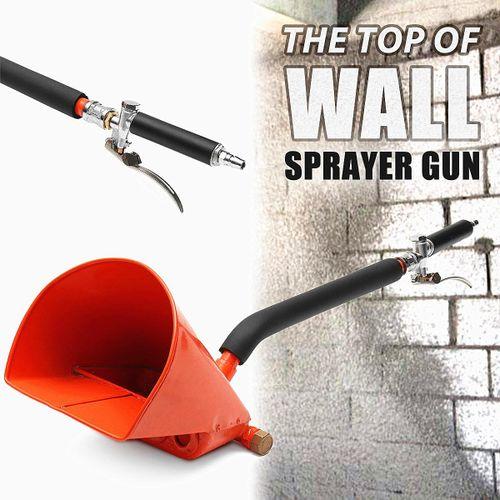 4 Jet Cement Mortar Hopper Paint High Wall Concrete Tool Air Stucco Spray