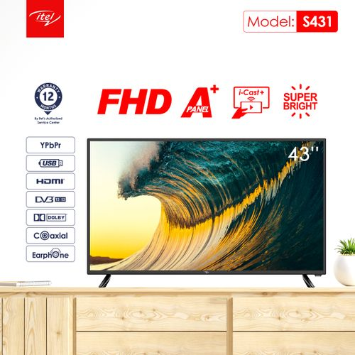 """43"""" I-CAST DLED FULL HD TV"""