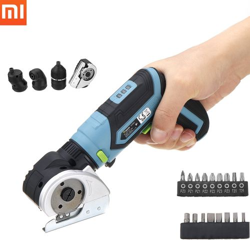 XIAOMI Tonfon 4 In 1 Multifunction 3.6V Lithium Cordless Electric Screwdriver Electric Cutter Offset Angle Right Angle Adapter