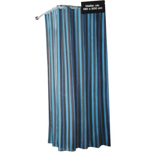Stripped Shower Curtain (180 By 200cm) - Blue