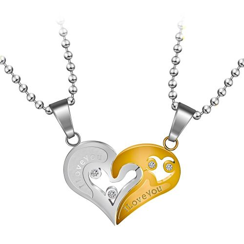 Couple Chain Necklaces Jewelry Stainless Steel Necklace