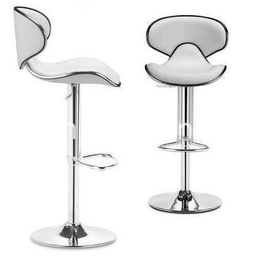 Modern White Stainless Bar Stool - Set Of 2