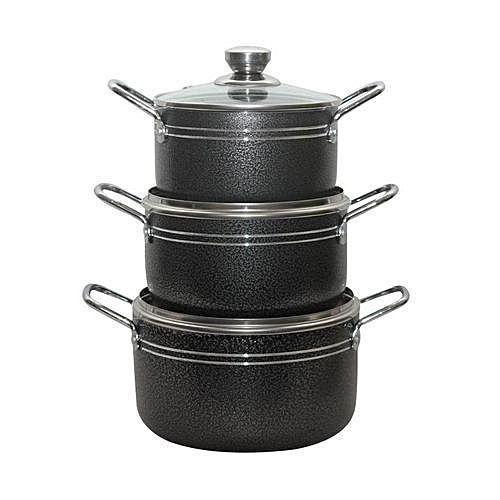 3-Pieces Non-stick Pots Set