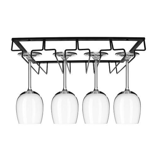 Black Wine Glass Storage Rack Organizer Hanger Kitchen Bar Restaurant Cup Storage Rack