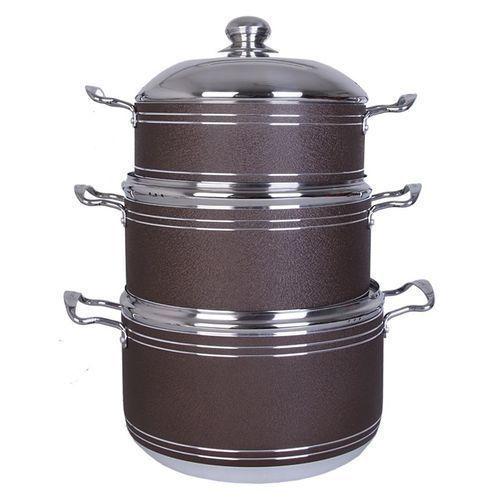 Non-stick Pot - Big Size - BROWN