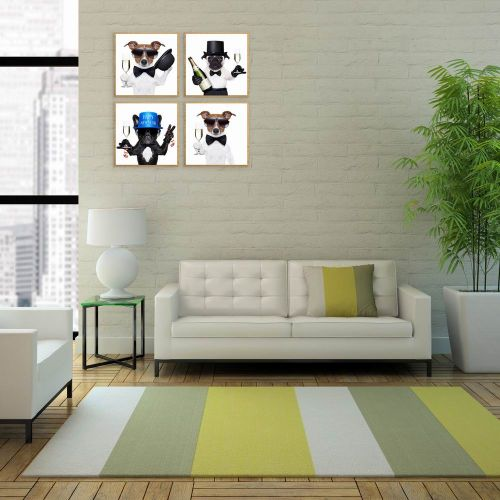 Modern Canvas Wall Art Simple Nordic Style Puppies Pattern Home Decoration 5Pieces / 5 Panels Printed Oil Painting For Wall Decor