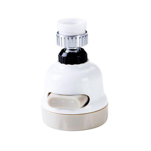 Water Tap Filter Faucet Splash-proof Rotating Pressurizing Adjustable Beige