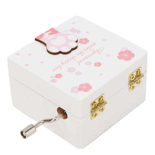 Cat Claw Hand Crank Music Box Cute Mechanical Classical Music Box Mini Wooden Music Box For Delicate Birthday Gift