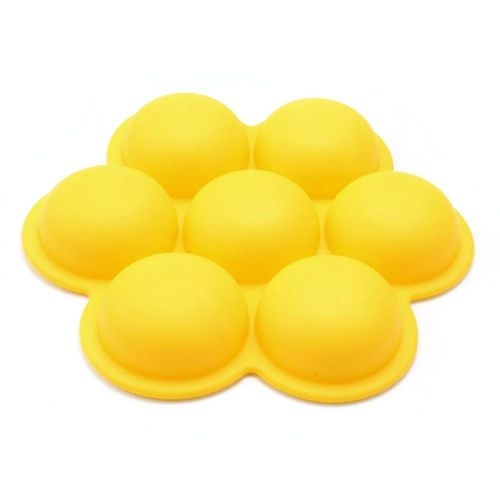 1pc 7-cavity Smiling Face Shape Silicone Mold Chocolate Pudding Candy Maker Mould Baking Tool