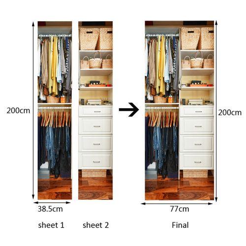 Lodaon 3D Creative Door Stickers Bedroom Doors Renovation Waterproof Door Stickers