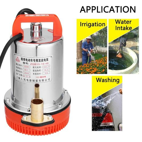 12V/24V/48V DC Submersible Water Pump Household Stainless Steel Solar Small Size