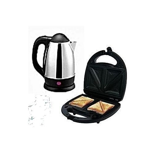 Kitchen Bundle Bread Toaster+Cordless Electric Kettle+Blender