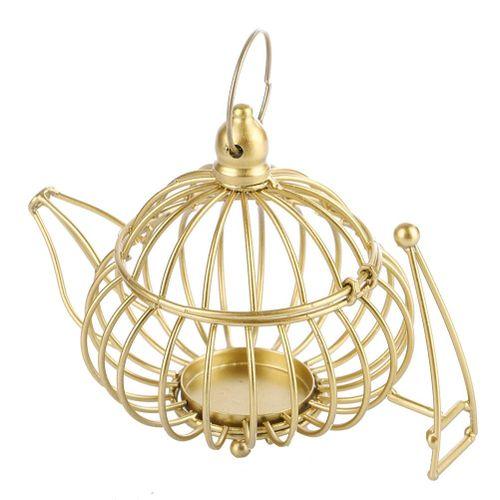 Iron Kettle-shape Lantern Candle Holder Weddinng Centerpiece Home Decor