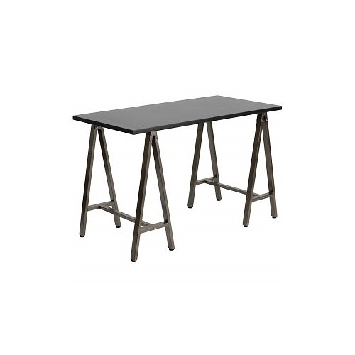 Flash Furniture Black Computer Desk With Brown Frame (Delivered Within Lagos)