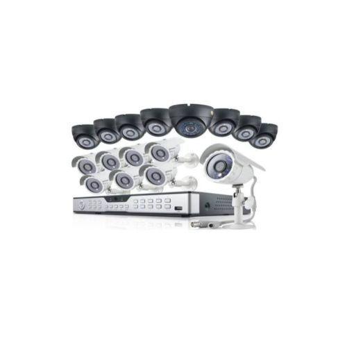 16Channel DVR, 1080P AHD 8 Indoor + 8 Outdoor Camera +1