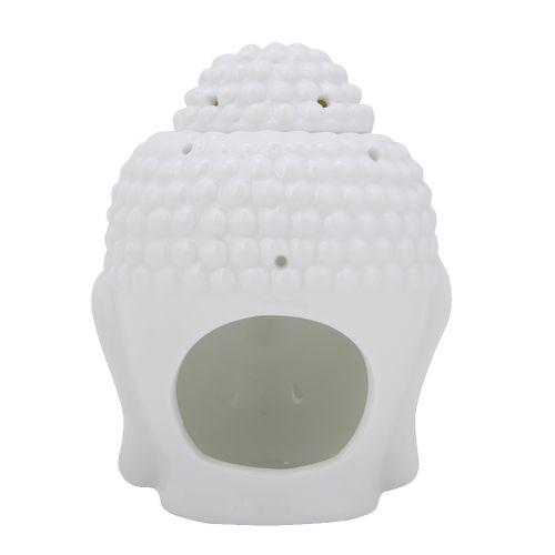 Candle Holder Buddha White Head Shaped Essential Oil Incense Burner Tealight Diffuser Holder For Home Decoration Ceramic Holder Tealight White Buddha Essential Oil Shaped Incense D