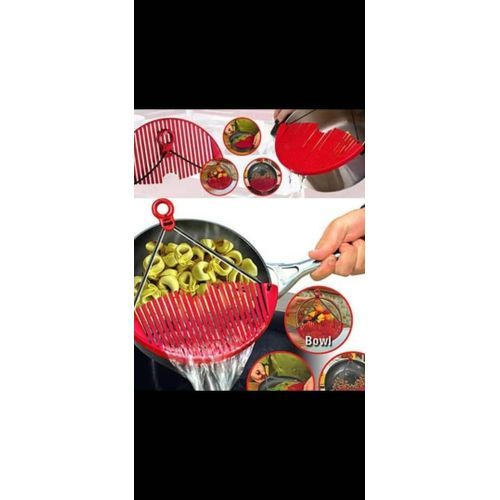 Expandable Better Strainer Basket - Red