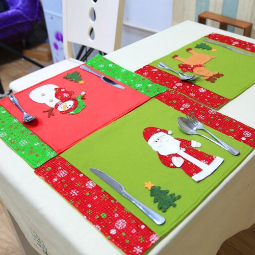 New Christmas Decoration Table Pad Christmas Restaurant Western RestaurantA-multicolor