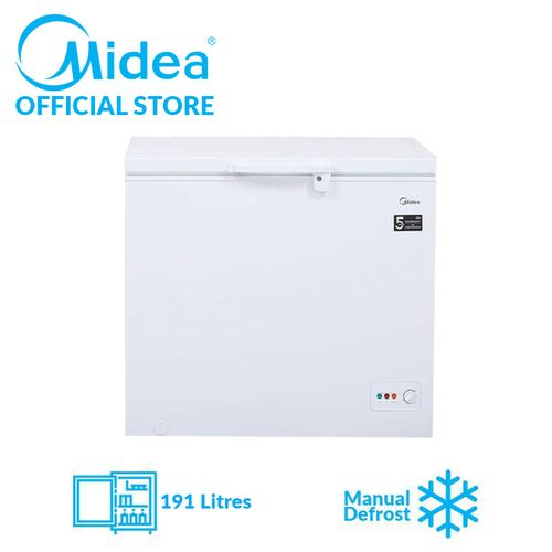 191L Chest Freezer With Inner Glass Door - White