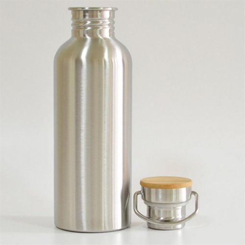 Stainless Steel Water Bottle Bamboo Cap Water Bott