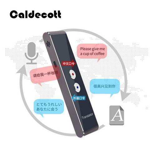 Portable 40 Languages Smart Voice Translator Intelligent Real Time Interpreter Travel Translator For Russian QLANG